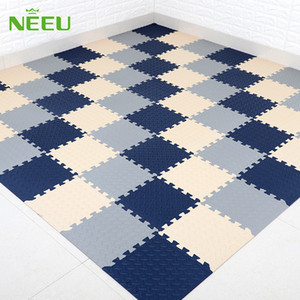 Neeu ultra thin 31*31*0.6 leaf pattern foamed floor mat, environmental protection, cool noise and noise proof.
