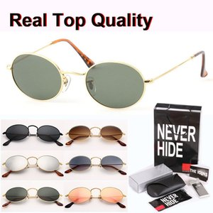 Brand Design Metal Frame homens Oval Sunglasses mulheres Steampunk Moda Retro Sun óculos com caixa original, pacotes, acessórios, tudo!