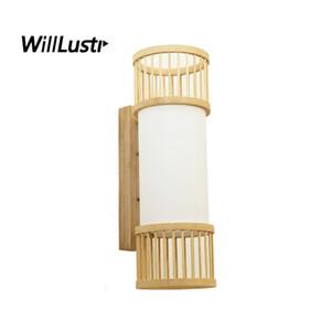 اليابان نمط الخيزران الجدار الشمعدان اليدوية الأصلي الخشب مصباح الممر مدخل بهو الممر الدرج المقهى بيسترو السرير ضوء