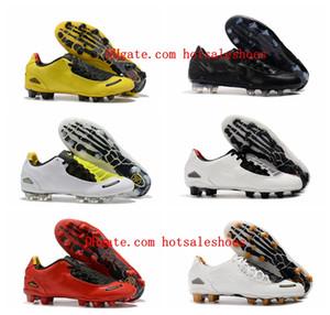 2020 Top Quality Mens Scarpe da calcio Totale 90S Laser I SE FG Calcio Soccer Stivali da calcio in pelle Scarpe da calcio Giallo