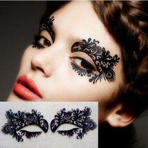 Bir adım göz farı sticker Siyah oynak kağıt sanat kirpikler Su Geçirmez yaratıcı sanatsal göz maskesi Sahne maskeli malzemeleri