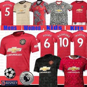 Manchester fútbol Jersey 2020 Pogba ALEXIS Rashford MARTIAL LINGARD MATA Rashford hombres camisa de los niños del kit de fútbol uniformes maillot de los pies