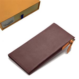 Portafogli Womens Wallet borsa della moneta del doppio Zippy Portafoglio Lady Due Catena Portafogli Fold titolare della carta del supporto del passaporto Donne tasto rosso Pouch 15-43