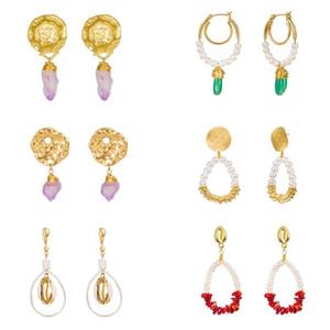 boucles d'oreille bijoux de luxe designer femmes boucles d'oreilles pierre perle Hip Hop stud individualité boucle d'oreille drop ship