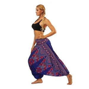 2019 Euro-Americano Desgaste das Mulheres Estilo Indonésio Digital Dança Do Ventre Digital Loose-legged Lanterna Calças Yoga Pants calças de ginástica