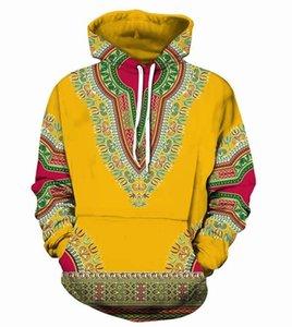 Bazin Riche Homens Africano Dashiki Hoodie tradicional 3D mulheres Pattern capuz hiphop roupa africana camisola étnico colorido
