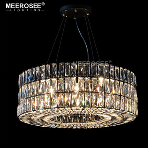 Vintage Crystal Chandelier Light Fixture Modern Clear Crystal Round Hanging Lamp Lighting for Restaurant Foyer Crystal Lamp Home Luminaires