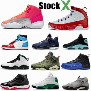 Erkek basketbol ayakkabıları Travis Scotts 6 S Bred sadık Mavi 4 s Seattle 10 S Michigan 5 S spor Kırmızı 9 S Obsidyen 1 S 14 s 13 S spor Sneakers
