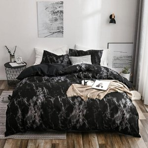 Marble Bedding Set with Duvet Cover Fitted Sheet Pillowcase Super soft smooth for Mattress Protector Quilt Cover Twin Queen Size