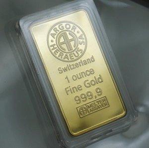En Venta Promoción Negro Blister Argor-Heraeus SA Swizerland barra de oro, 999 fina barra plateada oro libre de regalo recuerdos de envío