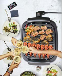 New Home Smokeless Elektrogrill koreanische Elektrogrill Pan Fried Teppanyaki Nonstick Grill Pan 1000W