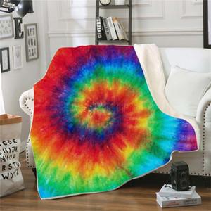 Numérique couleur de la fleur Couvertures 3D impression Canapé Articles couche Double ménage Impression colorée Couverture Épaississement Nouvelle arrivée 45qld L1