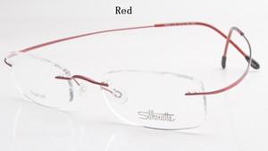 All'ingrosso-lusso-marchio Silhouette senza orlo di titanio di vetro ottici Frame No Prescriptioneglasses vite con Bax spedizione gratuita