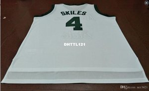 Free shipping #4 Scott Skiles Basketball Jersey Michigan State Spartans green white customize Any number Men Stitched Jersey