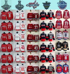 2018 Stadio Serie Washington Capitals Alex Ovechkin 8 77 TJ Oshie Evgeny Kuznetsov Backstrom Holtby Wilson Inverno Classic Hockey maglie