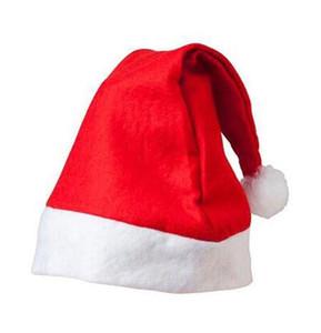 Cappelli Babbo Natale cappelli rossi e bianco cappello di partito per il Babbo Natale costume decorazione di Natale per i bambini di età Cappello di Natale 888