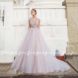 Colorful Pink Tulle Multi Layers Evening Dress Appliques Long Train Women Party Wear Maxi Gowns Vestido de Festa Pleated A-line Prom Dresses