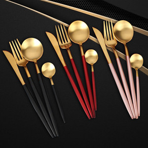 Paslanmaz Çelik Bıçak Çatal Kaşık Set Batı Gıda Çatal Sofra Takımı Set Paslanmaz Çelik Bıçak Çatal Kaşık Sofra Seti