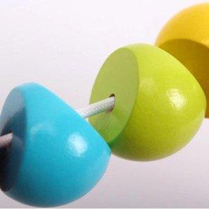 très funy jouet coloré Worm Twist en bois Puzzles Caterpillar enfants chenille en bois Jouets éducatifs bébé chenille Jouets en bois Finger
