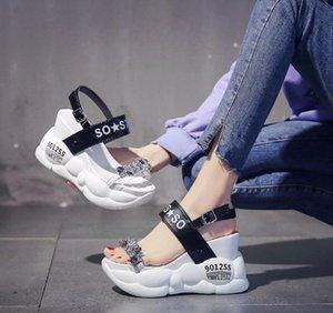 See-through del cuneo sandalo femminile fata vento di Europa 2020 nuove scarpe delle donne della molla tutti vanno con le scarpe piattaforma di roma
