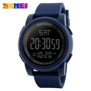 SKMEI Geschäft Einfache Uhr-Männer PU-Bügel-Multifunktions-LED-Anzeige Uhren 5Bar wasserdichte Digitaluhr reloj hombre Kostenloser Versand New