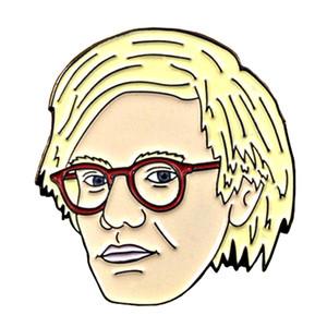 Andy Warhol esmalte pin arte pop broche pintura insignia artista regalo camisas chaqueta accesorios
