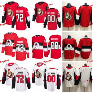 2019 오타와 상원 의원 Thomas Chabot Stitched Jerseys 100 번째 클래식 셔츠 홈 레드 # 72 Thomas Chabot Hockey Jerseys S-XXXL