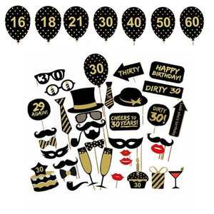 vent & Photobooth Props 16 18 21st 30 40 50 60th Photobooth Happy Birthday Party Supplies Photo Booth Props Man Woman Birthday Party...
