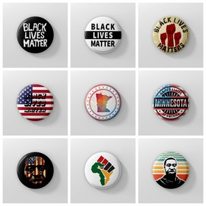 i can't breathe brooches George Floyd Black Lives Matter for parade party supplies plastic pins brooches 7.4cm FFA4113-5