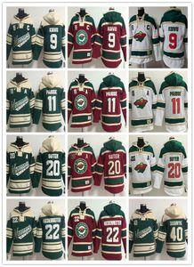 Мужские дизайнерские толстовки Minnesota Wild hockey Jerseys 9 Mikko Koivu 11 Зак Паризе 40 Деван Дубник 22 Nino Niederreiter Толстовки с капюшоном
