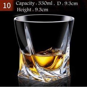 Toptan Kristal Elmas Tumbler Whisky Shot Kurşunsuz Kalınlaşmış Likör Kupası Şarap Tumbler Bira Bardağı Kokteyl Mug Cam Hediye Glasses