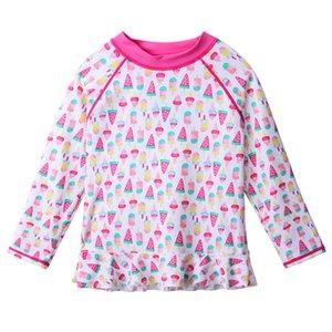 Baohulu 4-10 yaşında çocuklar Mayo UPF50 + saçak Kızlar Mayo Çocuk Mayo Kız Plaj Yüzme Suit