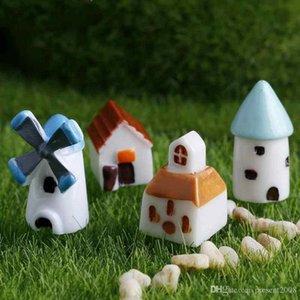 Accessori regalo Nuova decorazione creativa di casa Mini Castello Windmill Church House Moss terrario Green Plant Micro Paesaggio
