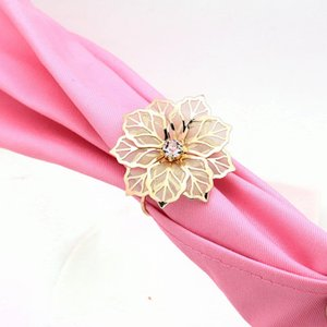 Nice Quality flower Napkin Rings hollow metai Weddings Party Serviette Table Decoration Favor for home resturant 20pcs free shipping
