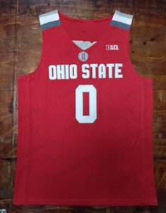 Ohio State Buckeyes 0 D'Angelo Russell 2019 Final Four Jersey Basketball stitched Mens Youth jerseys free shipping