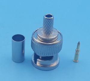 1000 Pcs Conector BNC plugue macho crimp RG58 RG142 LMR195 RG400 cabo em linha reta