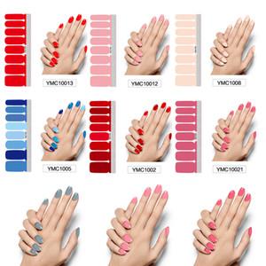 Pure Color DIY Nail Обертывание полного покрытие ногти наклейка Art Маникюр украшение Клей польские Ногти Сплошного цвет Валентайн подарок