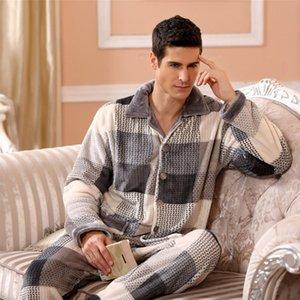Minecraft pyjamas d'hiver pour les hommes épais Flanelle nuit Costume 2 pièces pyjama Homme Réchauffez Casual Accueil Vêtements Pijama Hombre