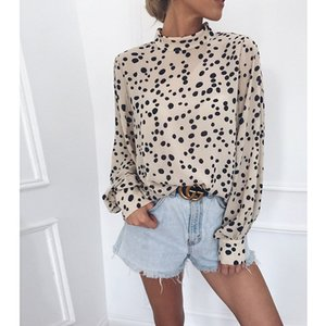 Women Blouse Summer Of 2020 New Restoring Ancient Ways Hepburn Dot Printing Collar Long Sleeve Loose Women Blouse 2020