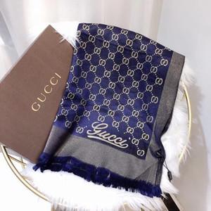 cuatro estaciones pañuelo de seda chal monograma tamaño 180 * 70cm bufanda bellos, clásicos y de moda de las mujeres sin caja cómodo de llevar