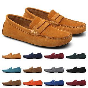 Mocasín zapatos casual Alpargatas triple de la marina de guerra negro vino rojo marrón mens conductor verde caqui zapatillas de deporte al aire libre para correr a pie tamaño 39-47
