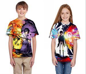 Naruto Kids Summer T-Shirt Hip Hop Playa Casual Camisetas Novedad Chicas Niños Anime Camisetas Tamaño grande Cool Streetwear