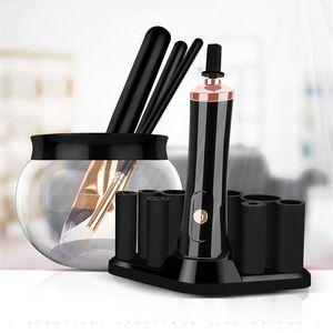 El más nuevo maquillaje eléctrico limpiador de cepillo de pestañas pegamento Shaker para la manicura del polaco líquidos Agitador Con 8 portadores de goma
