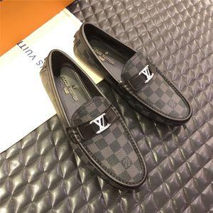Meilleure qualité chaussures formelles masculines en cuir véritable modèle d'affaires plat chaussures de loisirs chaussures de bureau à carreaux brun noir taille 38-45
