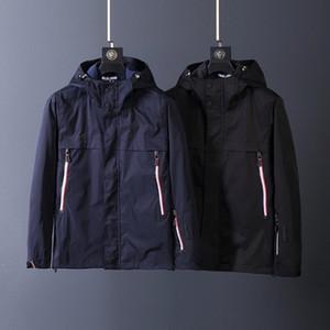 2020 серии M французские мужчин случайной супер водонепроницаемая функциональная ветровка куртки черный и синий M ~ 3XL