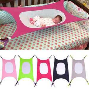 Infant Sleeping Hammock Baby Newborn Kid Sleeping Bed Safe Detachable Elastic Hammock With Adjustable Net Newborn Crib OOA7528