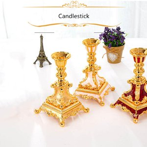 European Candle Holders Gold Candlestick Romantic Candle Stand Exquisite Candlestick For Table Home Party Hotel Decor