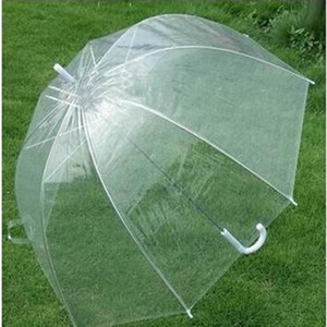 Romantic Clear Bubble Umbrella Transparent Dome Umbrella Cherry Blossom Wedding Decoration Umbrellas Waterproof for Rain and Wind