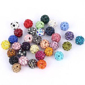 Acqua Beads gioielli fai da Clay Ceramica allentato dei branelli della sfera del braccialetto del Rhinestone in rilievo Orecchini in fascini monili per fare gioielli fai da te