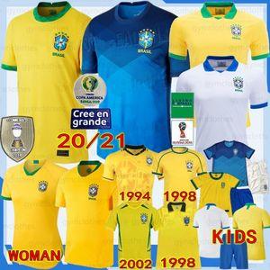 Thailandia Brasile nuova di calcio jersey Neres camiseta de futebol Coppa America 18/19 brasil camicia G.JESUS MARCELO Vinicio gli uomini + bambini Donne di calcio